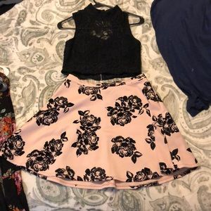 Trixxi Dresses - Two piece black and pink set